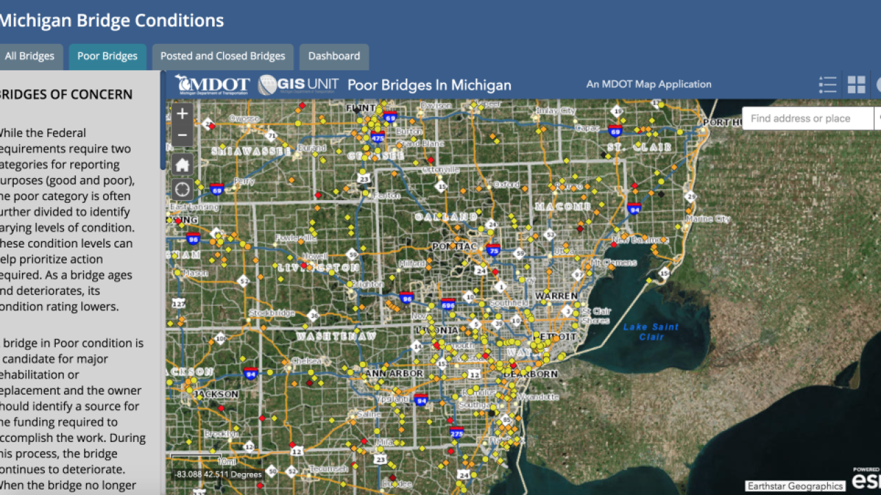 Mdot Interactive Map Find the worst bridges near you in metro Detroit on interactive map