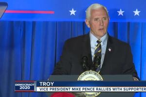 Vice President Mike Pence travels to Troy, Lansing