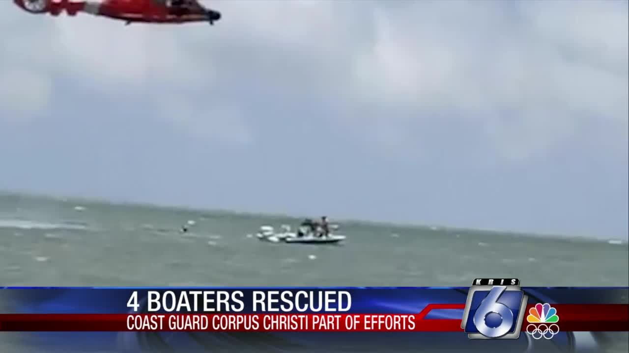 Four boaters rescued north of Port Mansfield