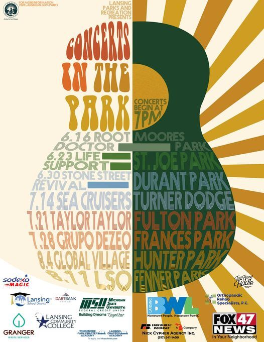 Lansing Parks and Rec Concerts in the Park