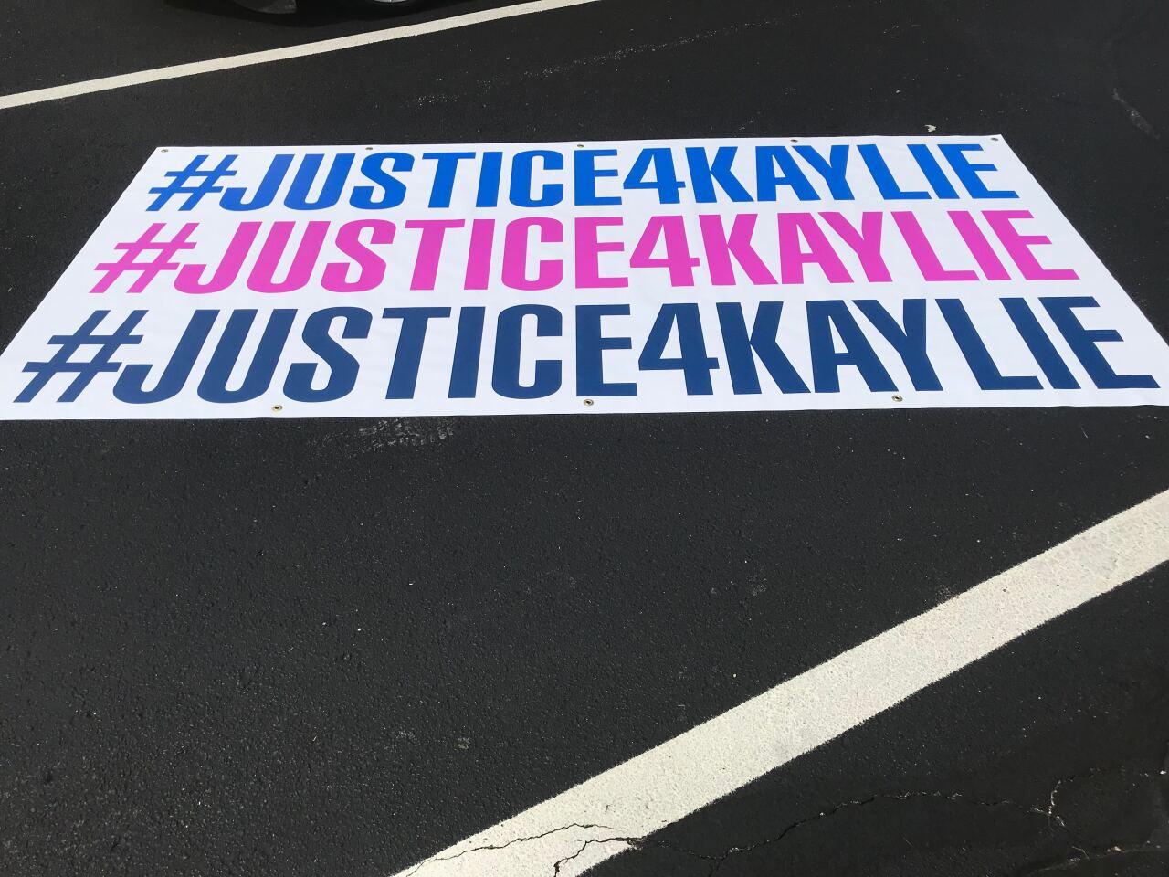 Justice for Kaylie Juga sign
