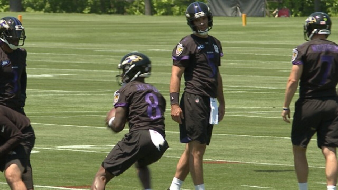 Ravens weigh in on new national anthem policy, Flacco on new QB Jackson