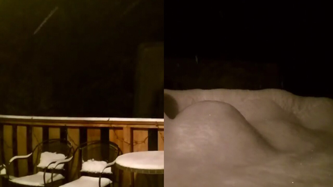 WATCH: The entire storm, as seen in Evergreen