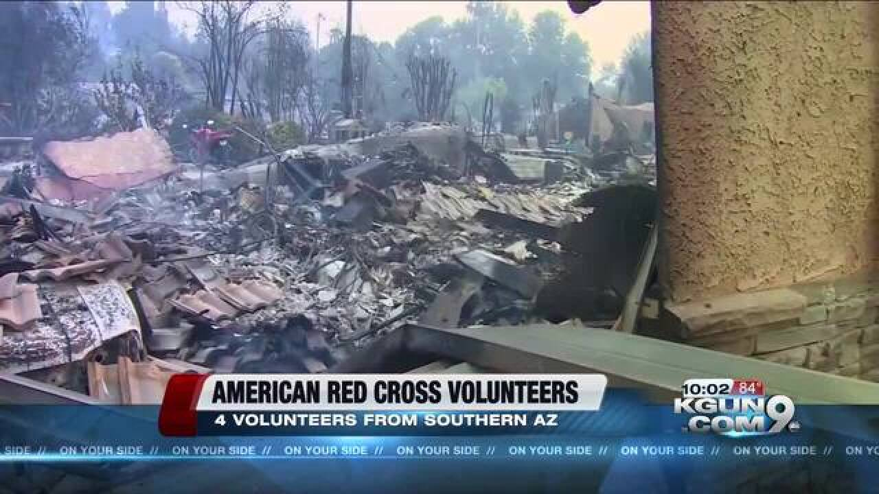 Southern AZ Red Cross sends 4 volunteers to CA