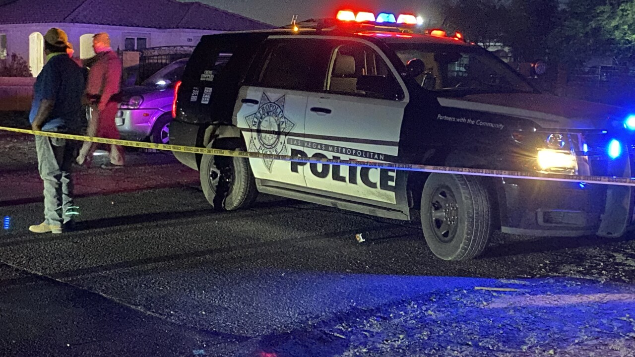 Federal and local authorities on scene of a crash involving a military contractor plane as seen on May 24, 2021 near Judson Avenue and Christy Lane in Las Vegas.