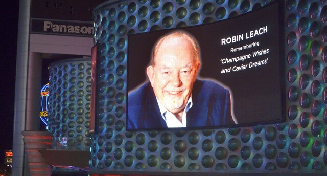 PHOTO: Robin Leach tribute on Las Vegas Strip