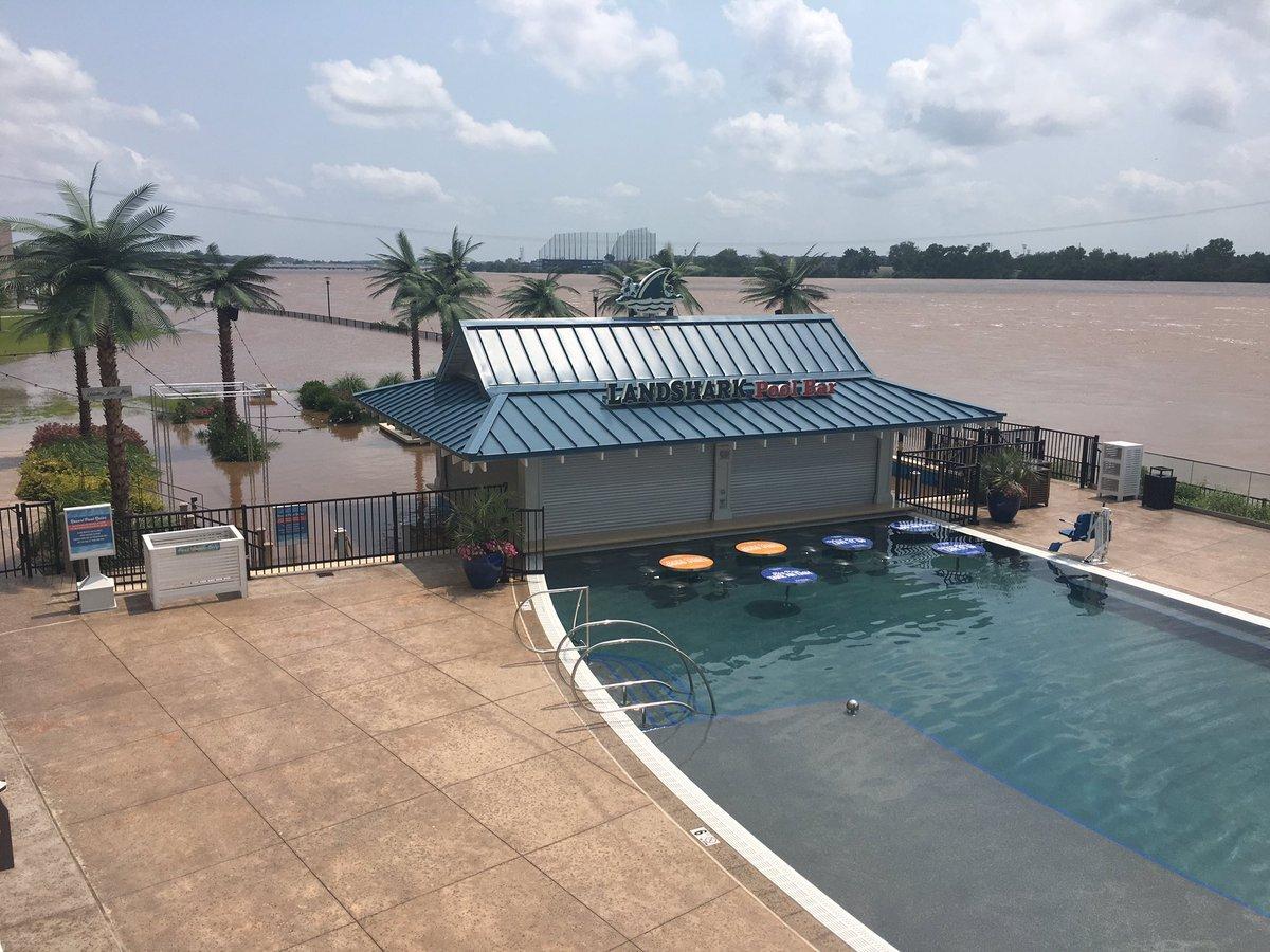 River Spirit beach area flooding