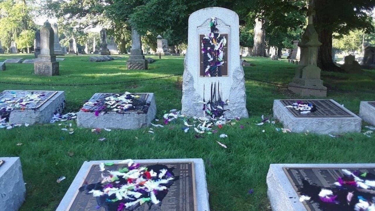 Confederate graves were 'tarred and feathered' at Indiana cemetery in early June
