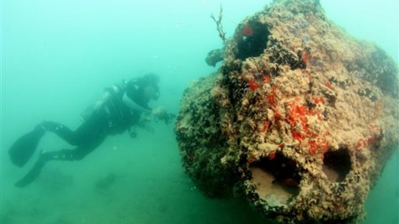 Images show seaplane that sank in Pearl Harbor