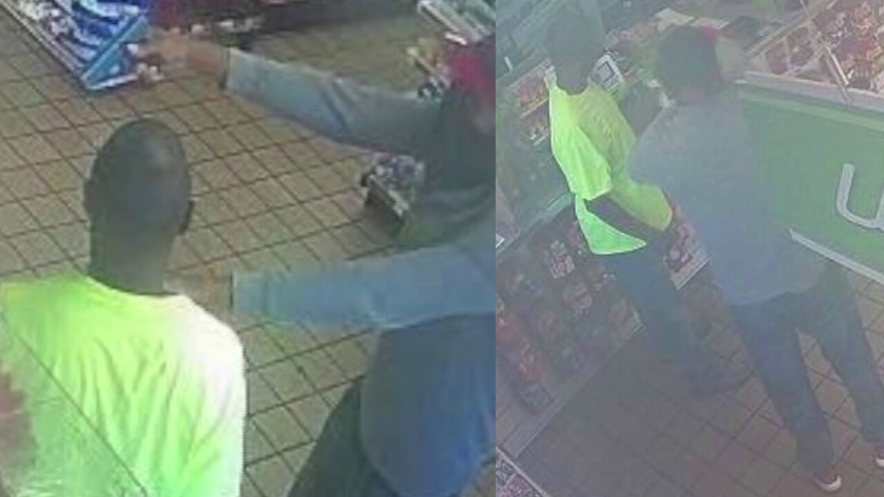 Man with blue gun wanted in Petersburg gas stationrobbery