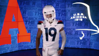 KNXV Arizona Wildcats helmet uniform