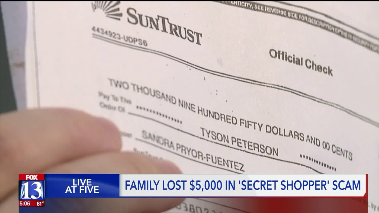 Utah family scammed out of thousands by fake job, fake checkscam