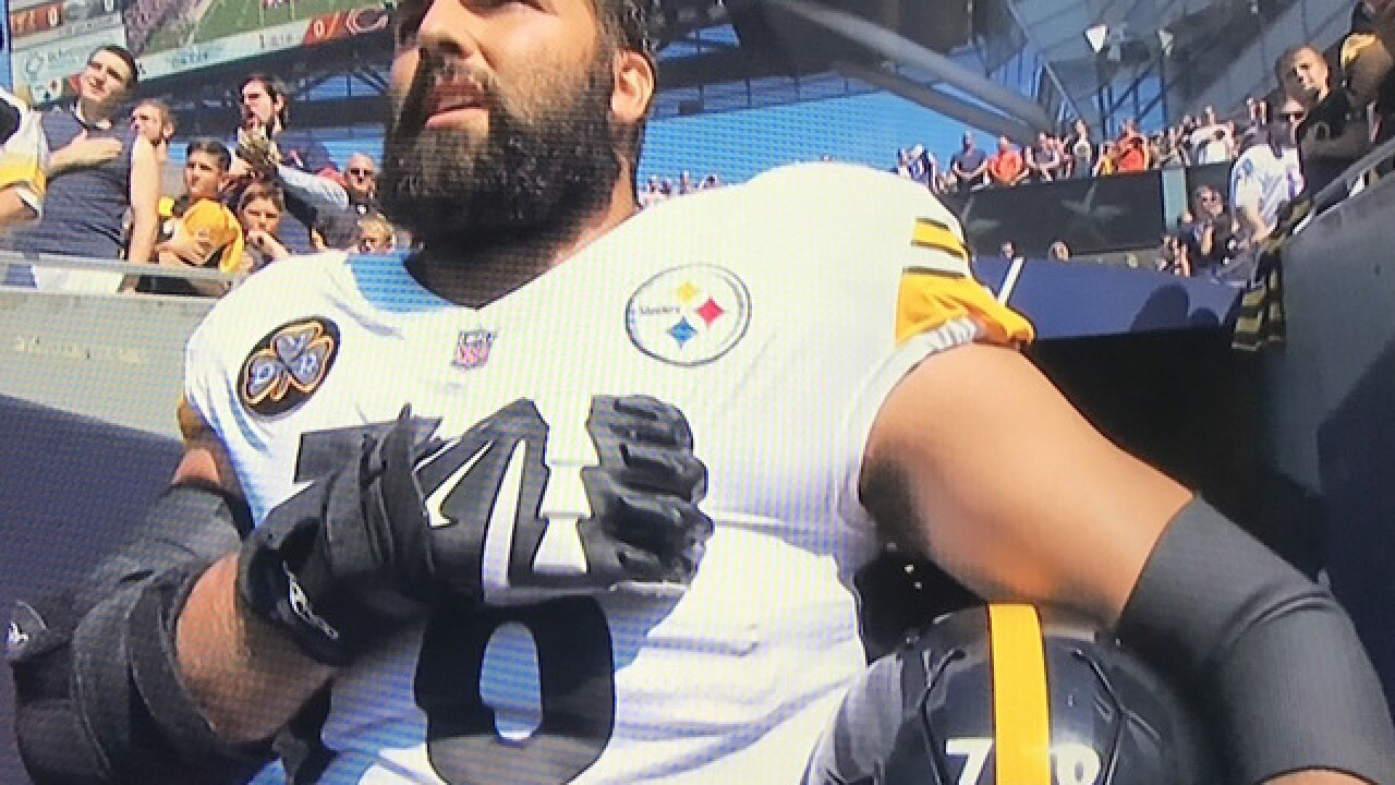20ba903e7 Sales for Alejandro Villanueva s jersey skyrocket after former Army Ranger  stood for anthem alone