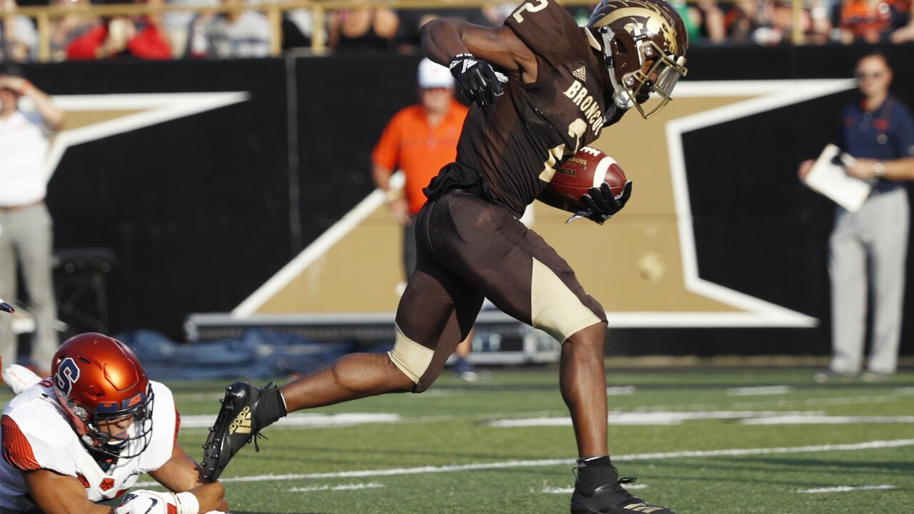 Western Michigan runs for record 7 TDs in win over Georgia State