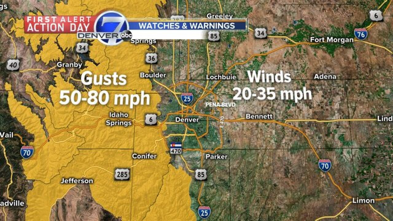 First Alert Action: High winds in mountains