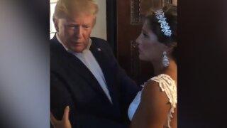 President Trump crashes wedding