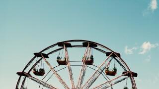 Amusement park, carnival, ferris wheel