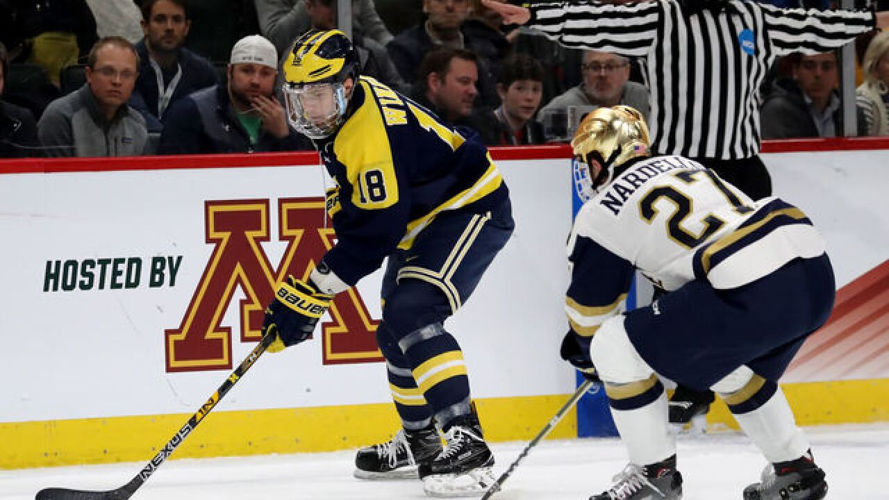 Notre Dame beats Michigan hockey in Frozen Four on last-second goal