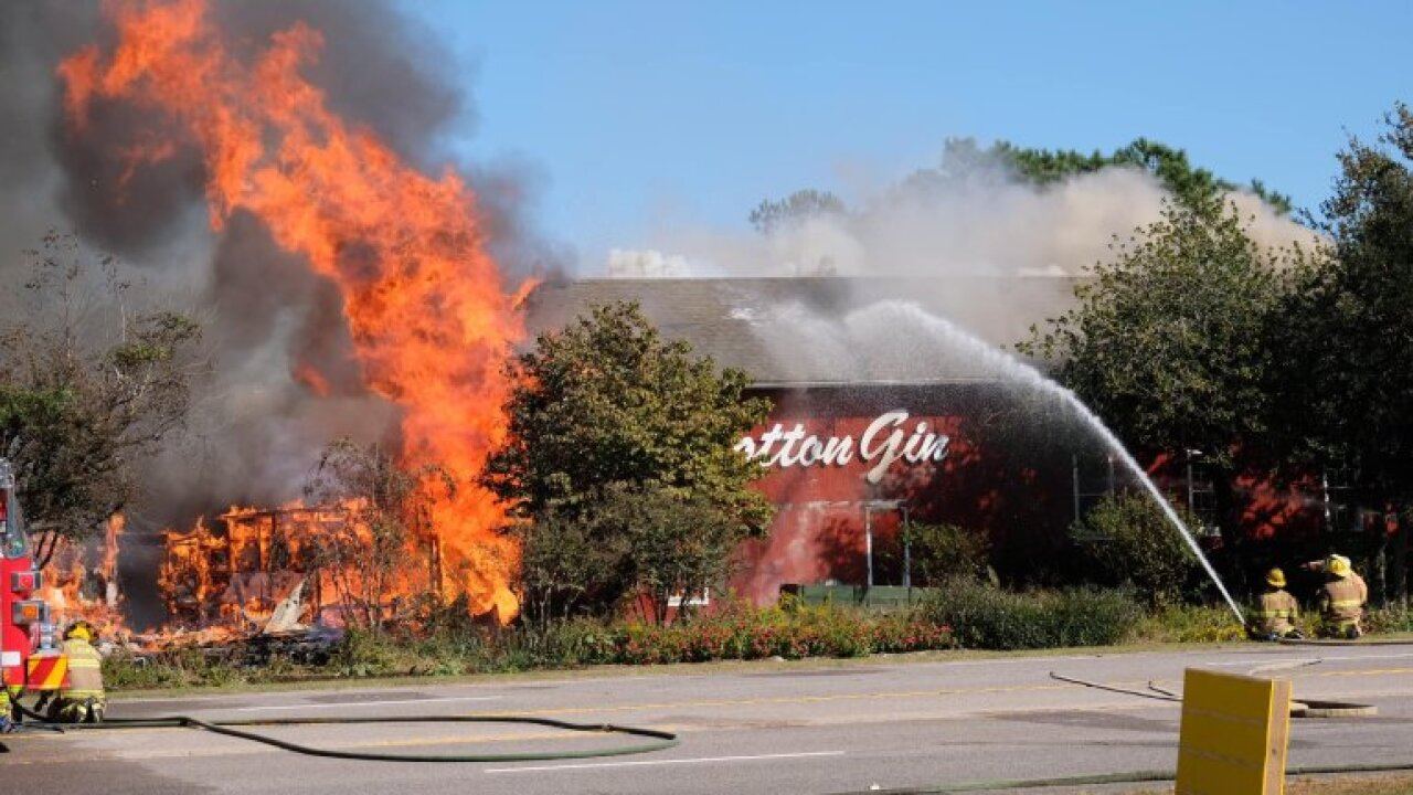 Fire levels iconic Cotton Gin gift shop in Outer Banks