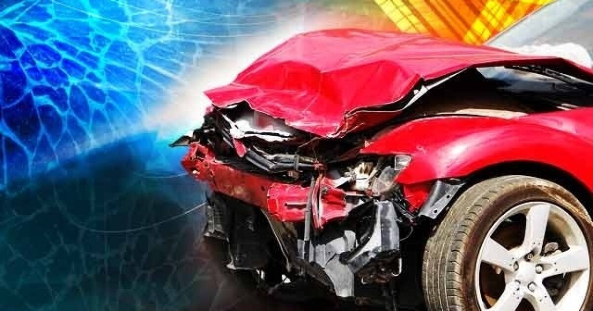 Two injured in crash early Sunday