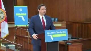 Gov. Ron DeSantis announces his plan for Florida to reopen, April 29, 2020