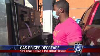 Gas prices, holiday travel down across the nation