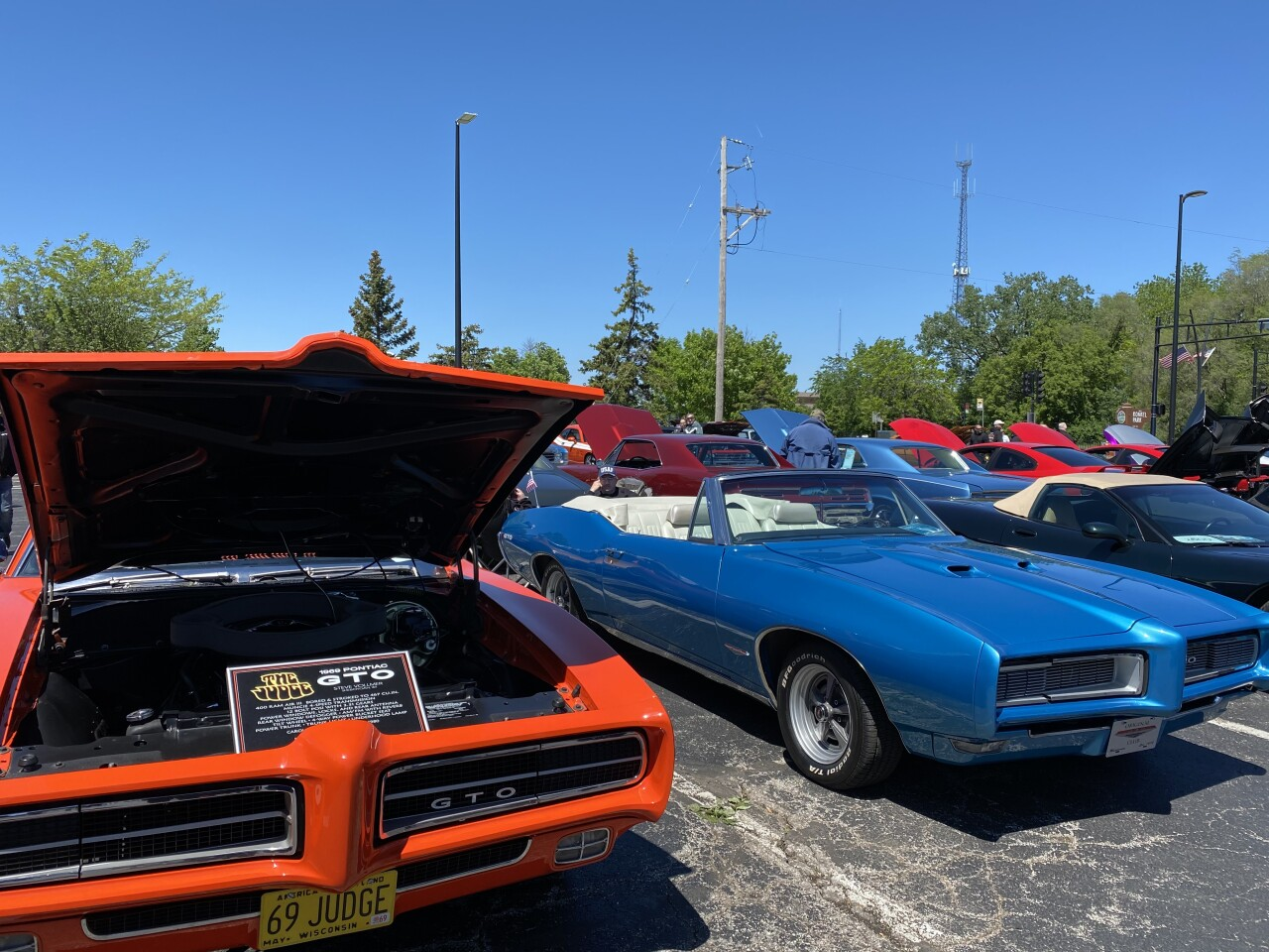 Some of the cars at the classic car show on Saturday afternoon.