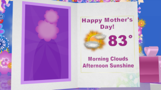 Dry and sunny Mother's Day