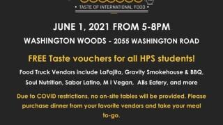 Holt international food festival flyer