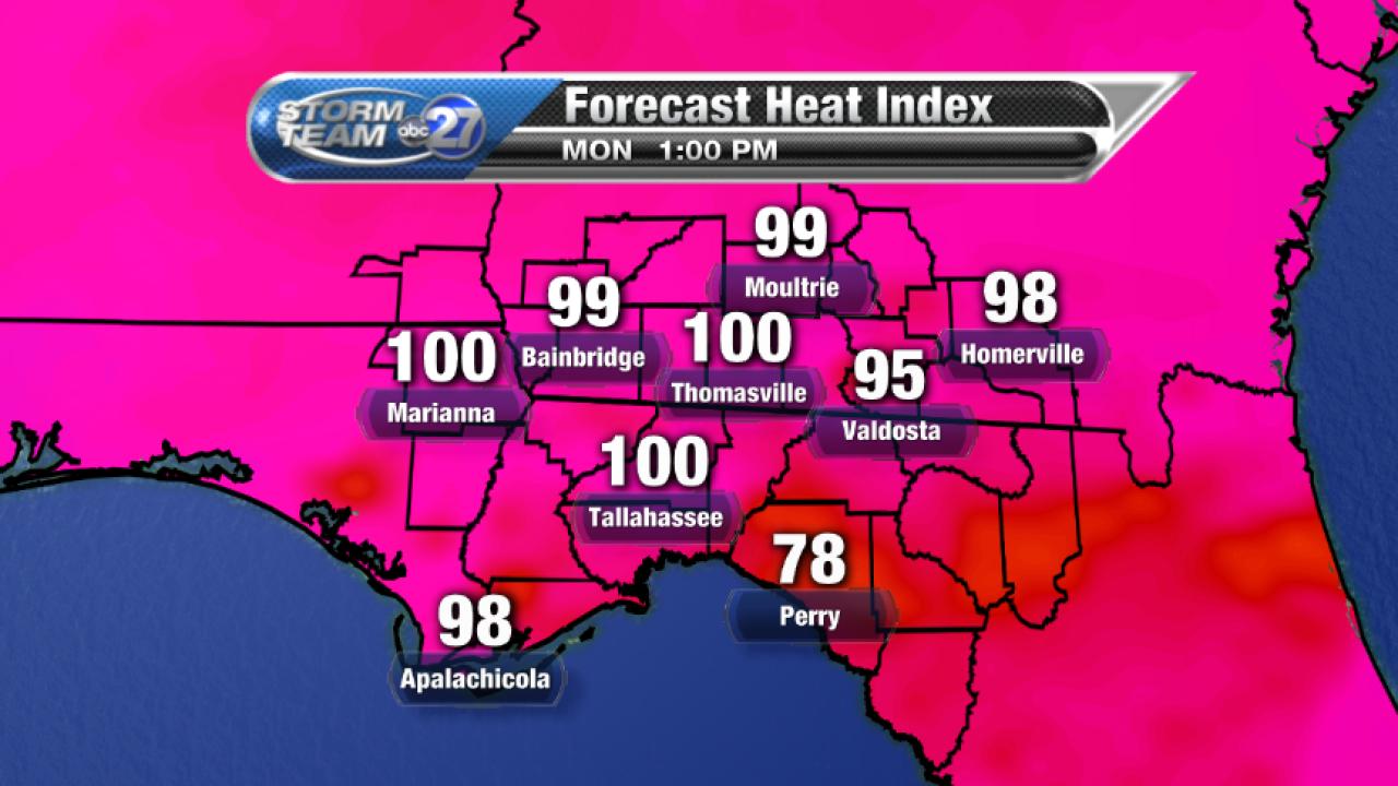 Forecast Heat Index (08/14/2017)