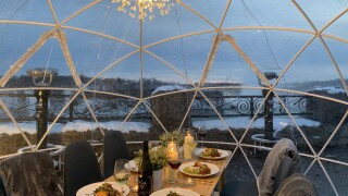 Need a fun dinner date idea? You can now dine inside a snow globe in Niagara Falls