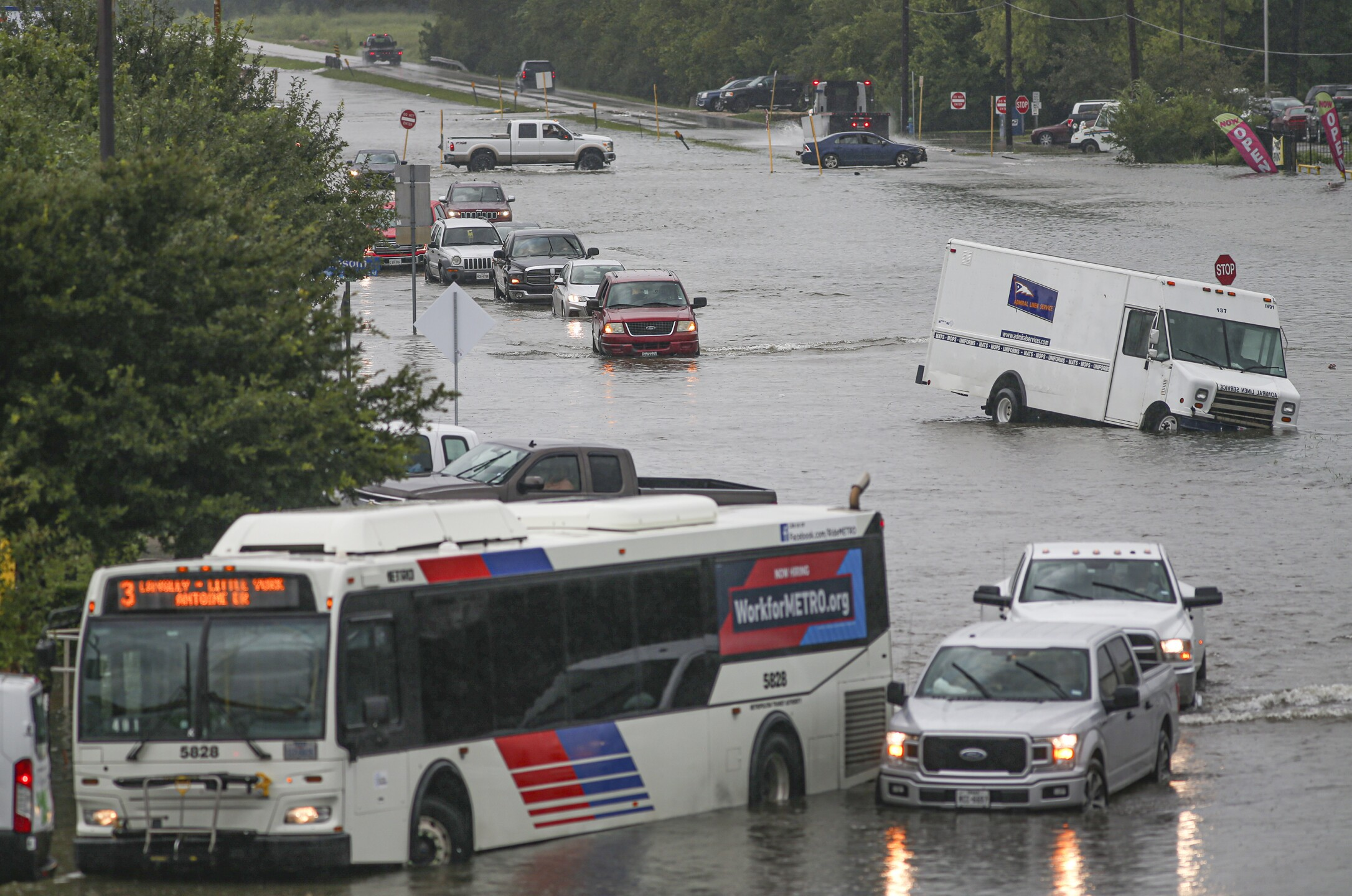 Massive flooding in Texas following Tropical Storm Imelda