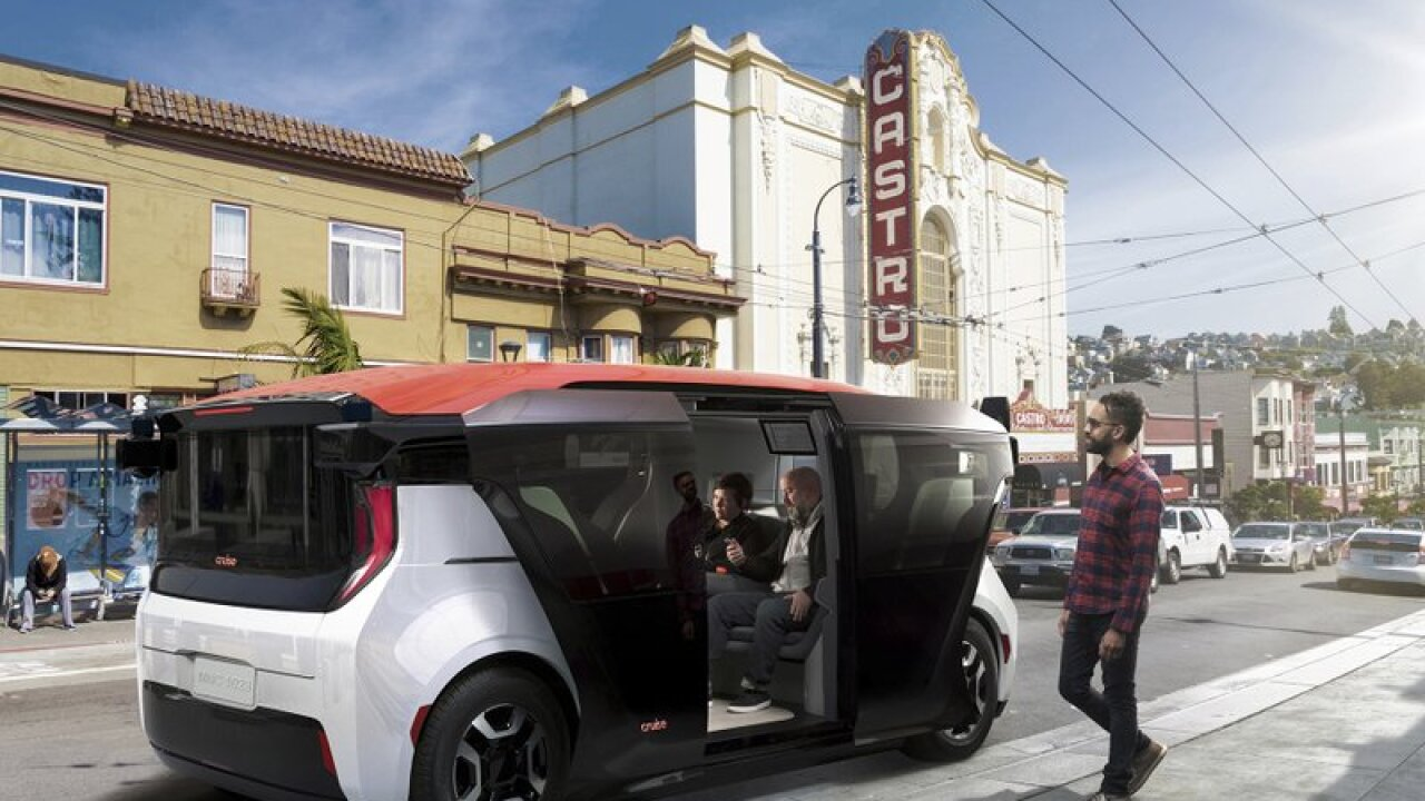 GM's Cruise heads down new road with new robotaxi concept