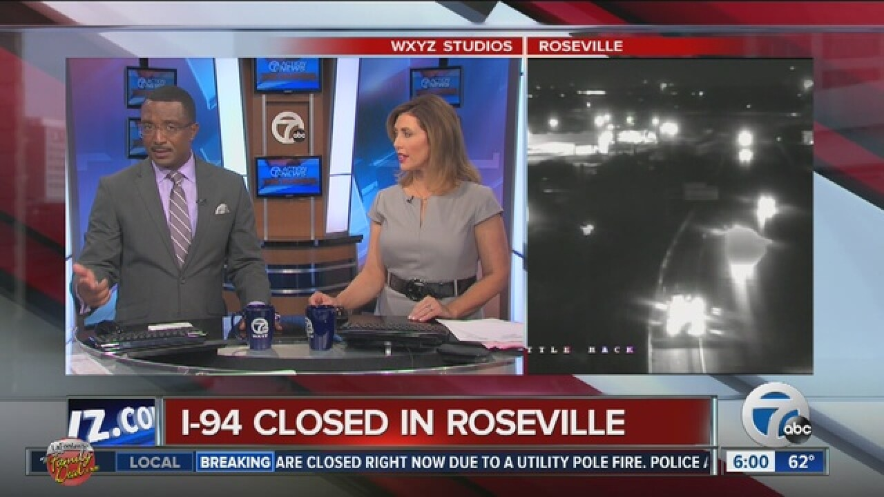 TRAFFIC ALERT: I-94 eastbound and westbound lanes have reopened near Roseville