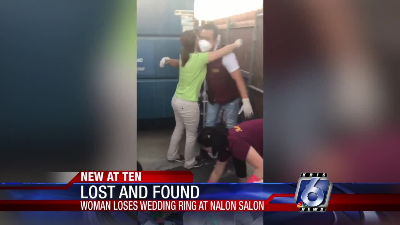 Lost wedding ring turns up after eventful trash search