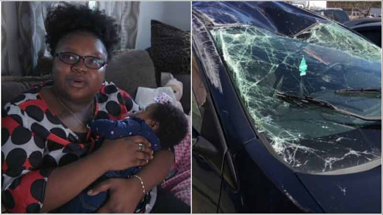 Woman credits her mommy instincts for saving her baby after hit-and-run crash