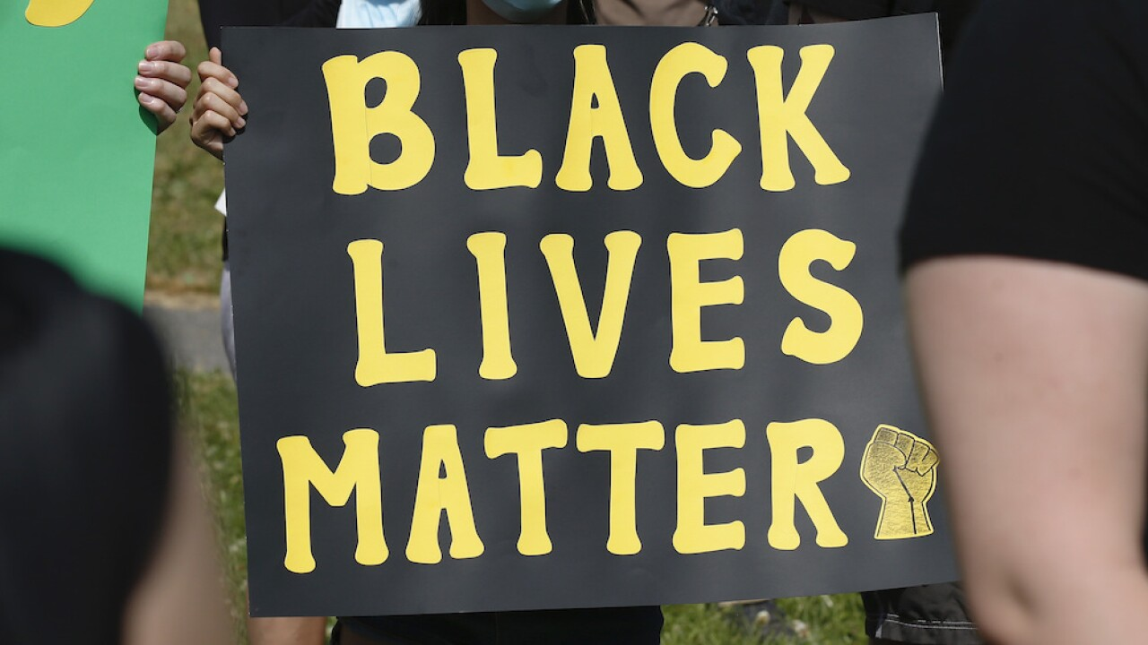 Black Lives Matter sign generic