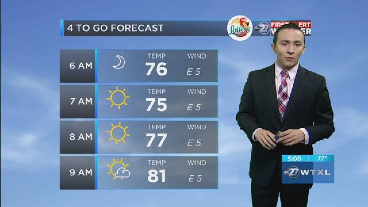 First Alert 4-to-Go Forecast: Aug. 6, 2018
