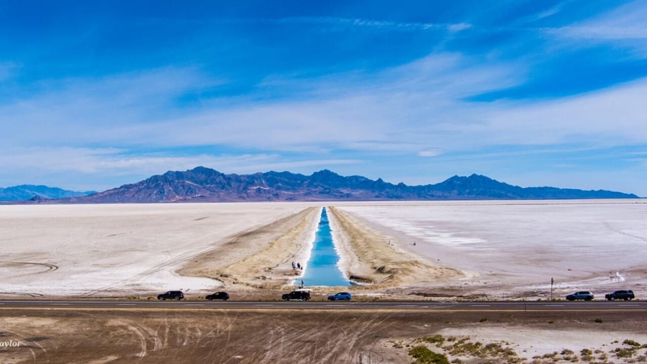 Salt Flats blue canal