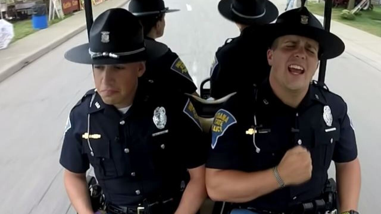 WATCH: Indiana State Police release Lip Sync Challenge video filed at State Fair