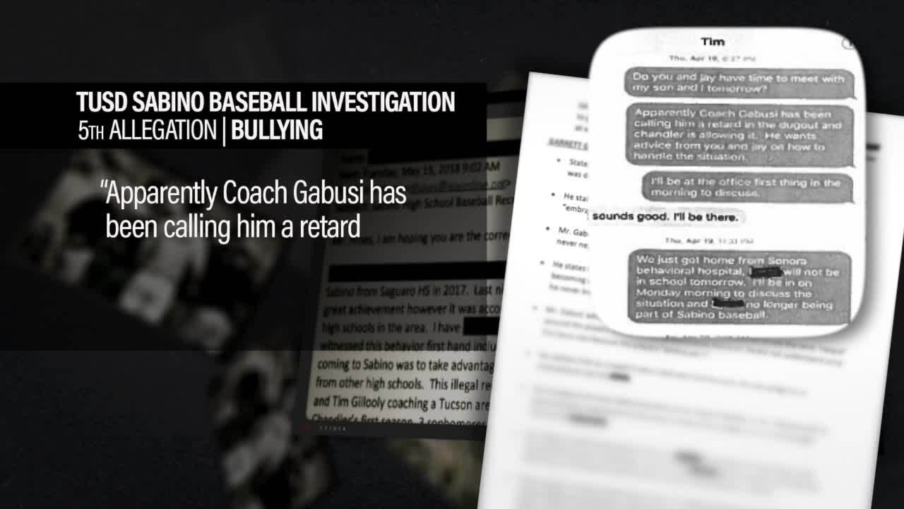 District investigation finds Sabino coaches bullied player; repeatedly called him 'retard'