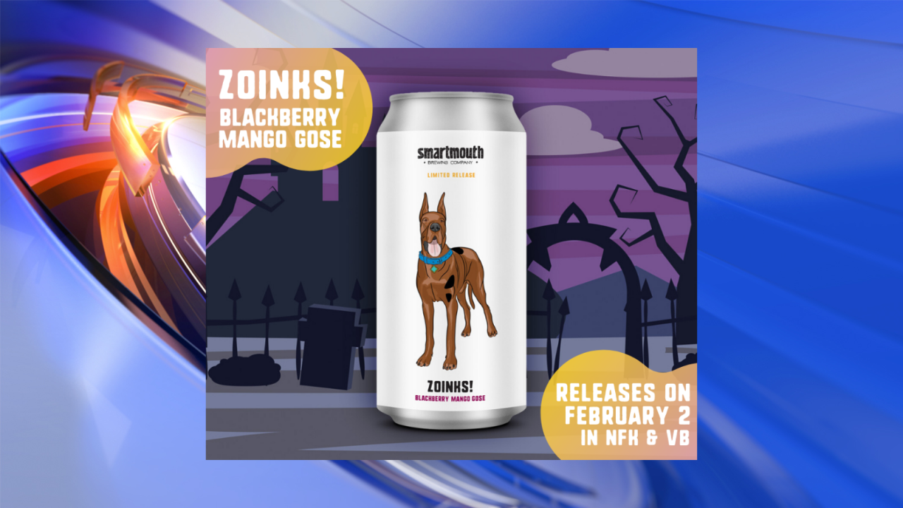 Smartmouth Brewing Co. to release 'Scooby-Doo'-inspired beer in February