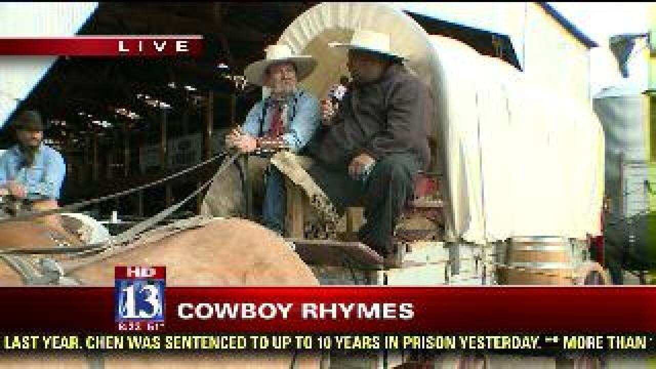 Covered wagon rides at Cowboy Legends event