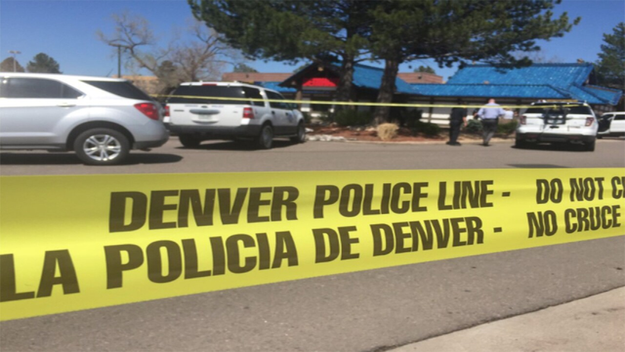 1 shot in southeast Denver; Suspect on the run