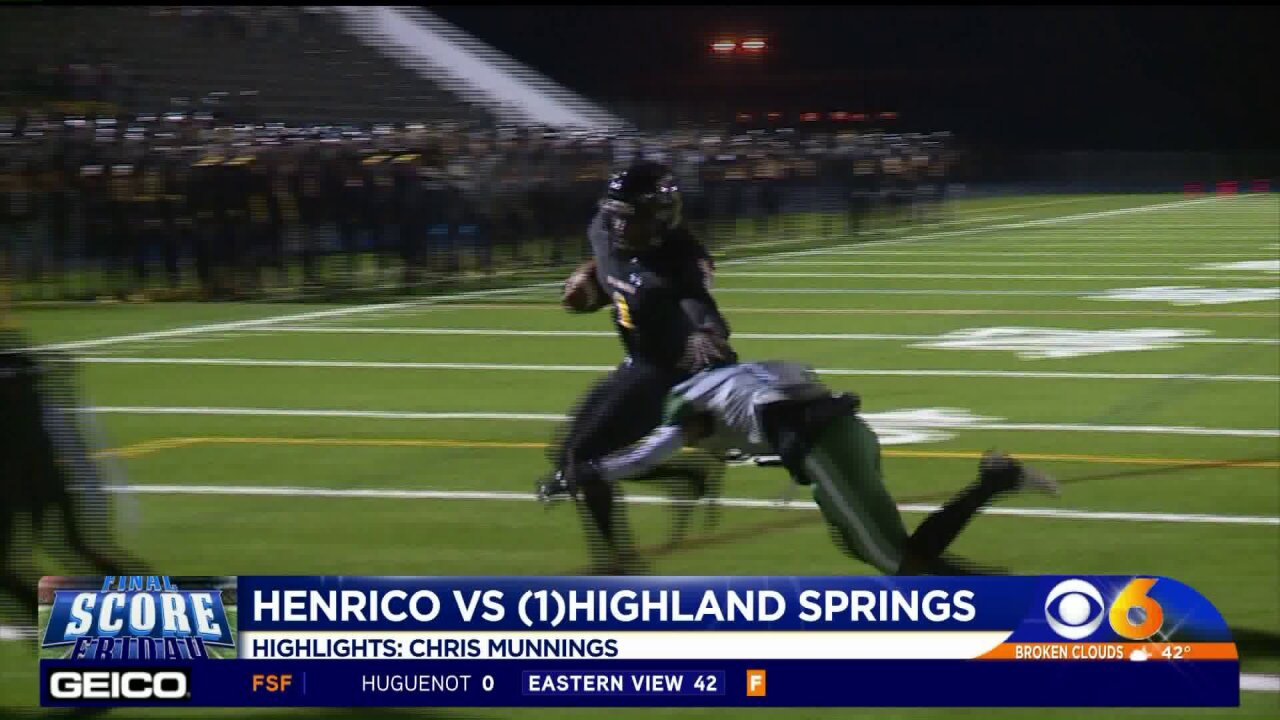 Springers down Henrico 38-21 in first round of playoffs, extend winning streak to 40 straight