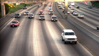 Ford Bronco carrying O.J. Simpson pursued by police in 1994