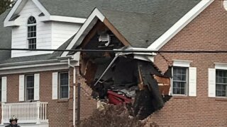 2 killed when car crashes into second floor of building in New Jersey