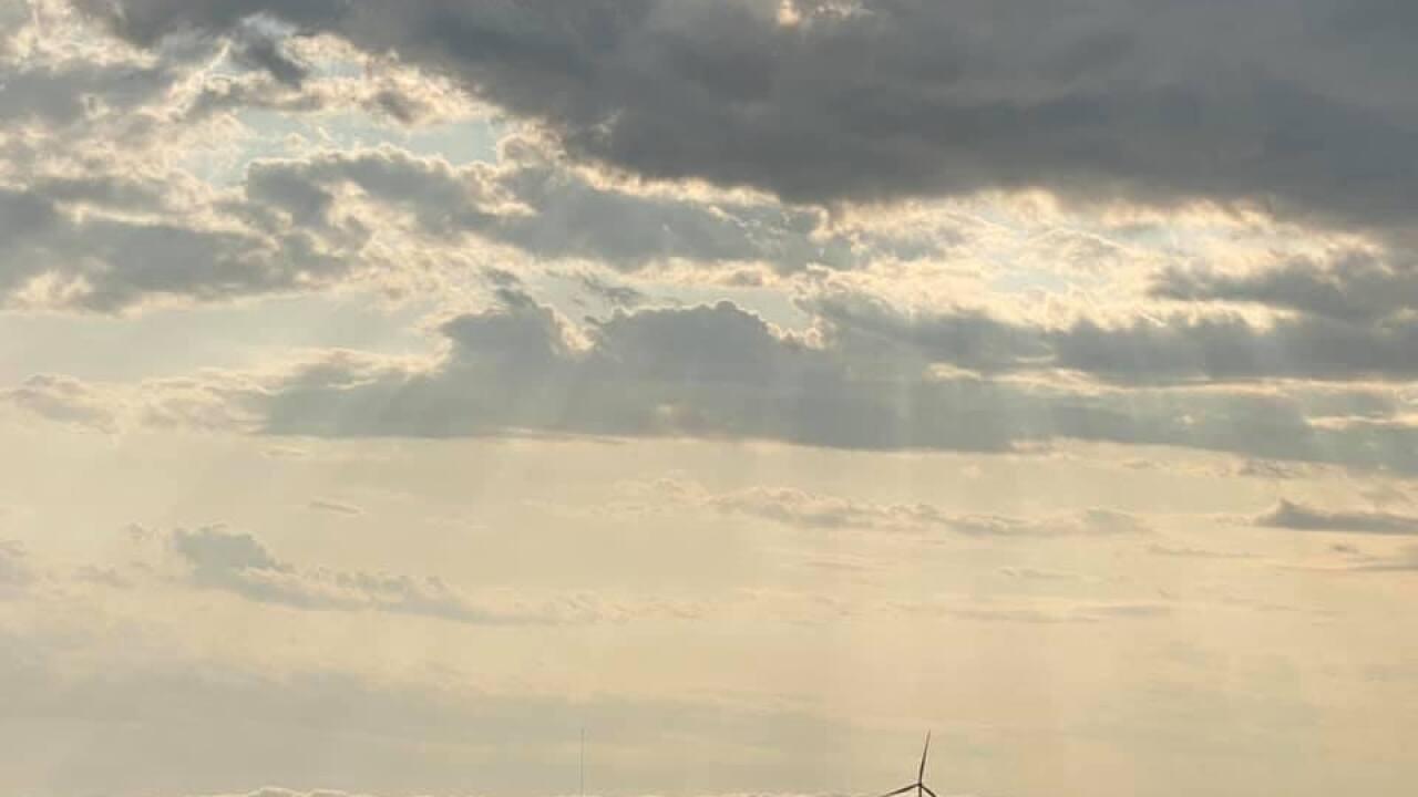 Sunshine breaking through clouds in S. Texas - By: FB Coastal Bend Weather Watcher Julie Salazar