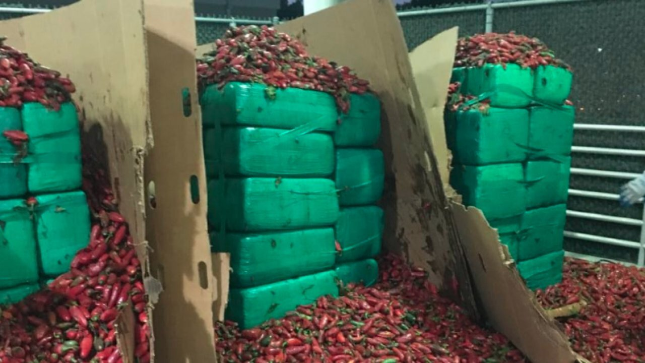 Nearly 4 tons of weed discovered inside a shipment of jalapeños