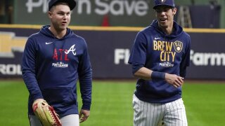 NLDS Braves Brewers Baseball
